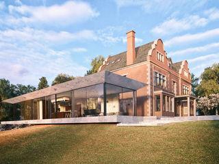 Glazed Extension for Dutch Gabled Property. HollandGreen 전원 주택 유리