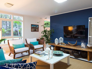 IZI HOME Interiores SalonMeble RTV Niebieski