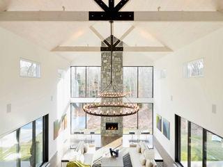 Plum Builders Modern living room Glass White