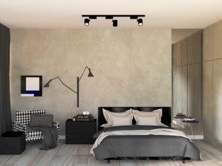 Patrícia Nobre - Arquitetura de Interiores Modern Bedroom Concrete Grey