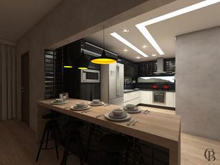 Caroline Berto Arquitetura Kitchen units MDF Black