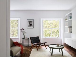 Westbourne Gardens, Notting Hill, London - W2 Brosh Architects Moderne Wohnzimmer Holz Weiß