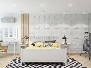ДизайнМастер Scandinavian style bedroom Beige