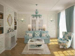 French country interior design Tamriko Interior Design Studio Living room White