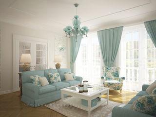 French country interior design Tamriko Interior Design Studio Living room