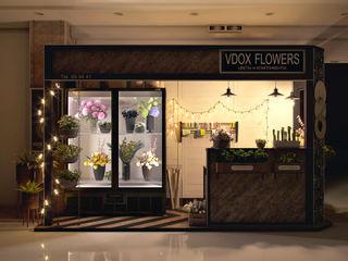 Визуализация цветочного павильона Alyona Musina Торговые центры в стиле лофт