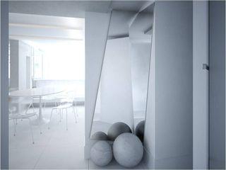 Reforma de apartamento de alto padrão PLANYTEC CONSTRUÇÕES E PROJETOS Fitness moderno Pedra Calcária Branco