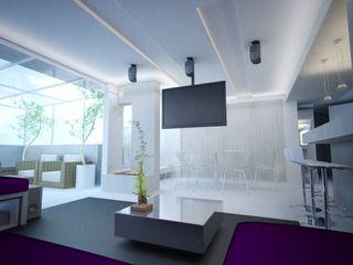 Reforma de apartamento de alto padrão PLANYTEC CONSTRUÇÕES E PROJETOS Salas multimídia modernas