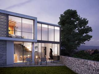 DELTA Minimalist house Metal White