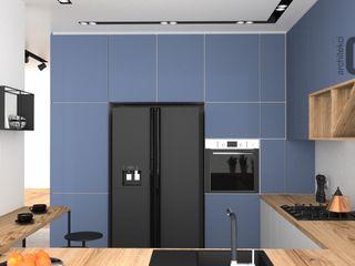 OES architekci Ankastre mutfaklar Bakır/Bronz/Pirinç Mavi