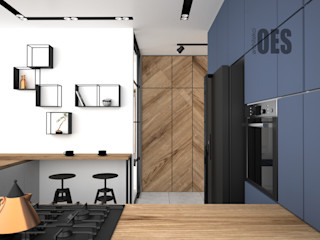 OES architekci Ankastre mutfaklar Ahşap Ahşap rengi