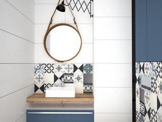 OES architekci Modern Banyo Masif Ahşap Beyaz