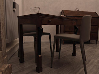"""Appartamento in centro storico """"Lui"""" Studio di Architettura IATTONI Soggiorno moderno"""