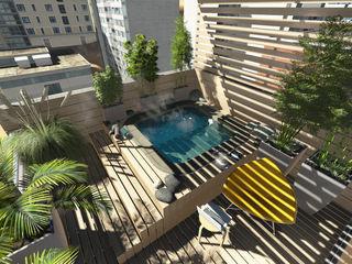 Aida tropeano& Asociados Bahçe süs havuzu Ahşap Rengarenk