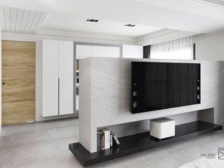 苗栗 - 天合首馥 禾廊室內設計 现代客厅設計點子、靈感 & 圖片 大理石 White