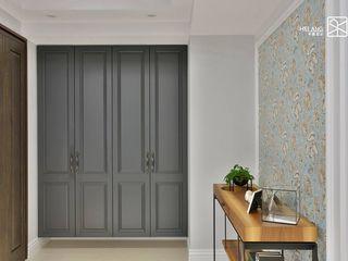 台中 - 喬立 禾廊室內設計 玄關、走廊與階梯儲藏櫃