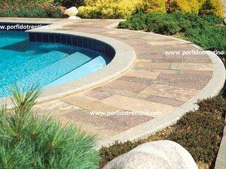PORFIDO TRENTINO SRL Garden Pool Stone Multicolored