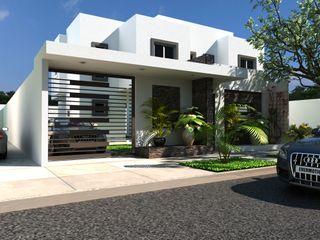 OLLIN ARQUITECTURA Single family home Stone White