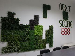 Latest geometric green wall design with artificial hedges Sunwing Industries Ltd Walls & flooringWall & floor coverings Plastic Green