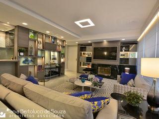 Residência Quintino Bocaiúva - Área Social Tania Bertolucci de Souza   Arquitetos Associados Salas de estar modernas