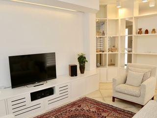 architetto Davide Fornero Salon moderne MDF Blanc