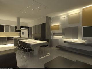 Aida tropeano& Asociados Ankastre mutfaklar İşlenmiş Ahşap Bej