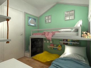 Fragmento Arquitetura Modern nursery/kids room