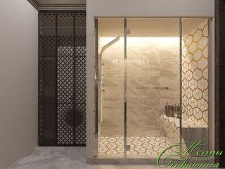 Компания архитекторов Латышевых 'Мечты сбываются' Casas de banho modernas Azulejo Castanho