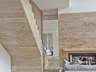 Finfloor 现代客厅設計點子、靈感 & 圖片 複合木地板