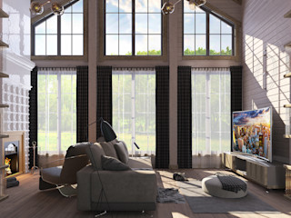 needsomespace Eclectic style living room Wood Beige