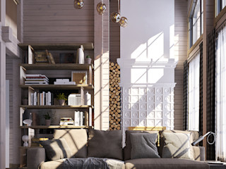 needsomespace Country style living room Copper/Bronze/Brass White