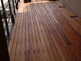 Terrazas en Residencial Solare periferico Onice Pisos y Decoracion Pisos Compuestos de madera y plástico