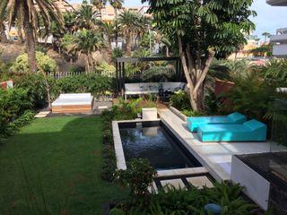 Jardín de ciudad Jardineros de interior Piscinas de jardín