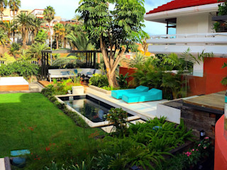Jardín de ciudad Jardineros de interior