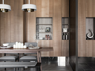 KD Panels Rustic style dining room Wood Wood effect
