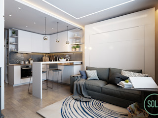 Solo Design Studio Living room White