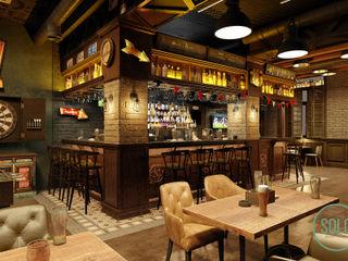 Solo Design Studio Bars & clubs Wood Brown