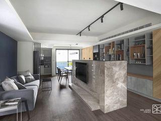 台中 - 休憩之家 禾廊室內設計 客廳 大理石