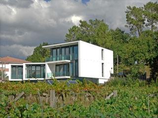 Boiro Exterior Proyectopia Casas prefabricadas Aluminio/Cinc Blanco