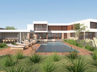 Uno Arquitectura Piscinas de jardín Hormigón Multicolor