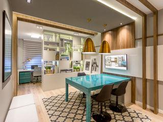 Juliana Agner Arquitetura e Interiores Edificios de oficinas Azul
