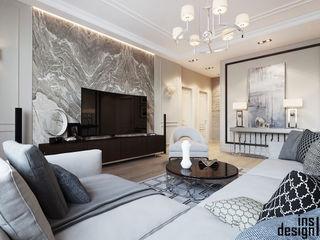 ЖК Виктория Y.F.architects Гостиная в классическом стиле