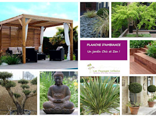 Planches d'ambiance LES PAYSAGES URBAINS Jardin moderne