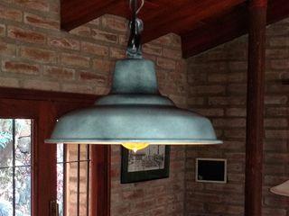 LAMPARAS GALPONERAS COLGANTES COLORES VINTAGE Lamparas Vintage Vieja Eddie LivingsIluminación Aluminio/Cinc Turquesa