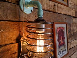 APLIQUE ESTILO INDUSTRIAL RETRO VINTAGE Lamparas Vintage Vieja Eddie LivingsIluminación Hierro/Acero Turquesa