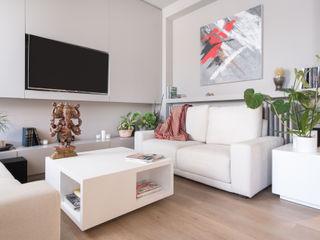 Sesión de fotos para la diseñadora de interior Cristina Salafranca Luzestudio - Fotografía de arquitectura e interiores Salones de estilo moderno