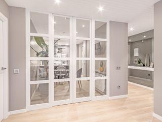 Luzestudio - Fotografía de arquitectura e interiores Modern Corridor, Hallway and Staircase