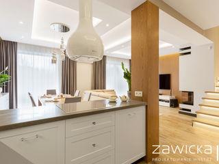 ZAWICKA-ID Projektowanie wnętrz Modern Kitchen White