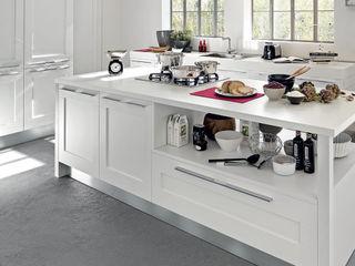 Area design interiores CocinaEncimeras Madera maciza Blanco