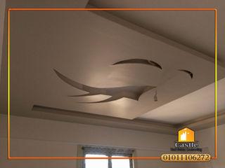 كاسل للإستشارات الهندسية وأعمال الديكور والتشطيبات العامة Living roomLighting Plywood Amber/Gold
